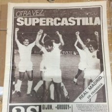 Coleccionismo deportivo: AS(18-9-1980)CASTILLA 3-1 WEST HAM LIMERICK 1-2 REAL MADRID VALENCIA MONACO BOHEMIANS GIJON BERTOL. Lote 263666970