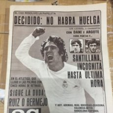 Coleccionismo deportivo: AS (13-9-1980) SANTILLANA REAL MADRID GARCIA CARRION BASORA BARCELONA BERNARD HINAULT CICLISMO RUIZ. Lote 263669175