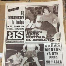 Coleccionismo deportivo: AS (12-9-1980) HUELGA SANTILLANA REAL MADRID ATHLETIC BILBAO BARRACHINA VALENCIA MONZON VALLADOLID. Lote 263669380
