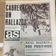Coleccionismo deportivo: AS (8-9-1980) GOL CABRERA ATLETICO MADRID VALLADOLID RAYO GETAFE 0-2 ALAVES BALBINO CLEMENTE. Lote 263670145