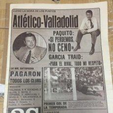 Coleccionismo deportivo: AS (7-9-1980) ATLETICO MADRID REAL VALLADOLID MALAGA DEBUT CABRERA COMO ESPAÑOL. Lote 263670420