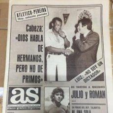 Coleccionismo deportivo: AS (4-9-1980) ATLETICO MADRID PEREIRA DOCTOR CABEZA 50 AÑOS DE LA LIGA GARCIA REMON REAL MADRID. Lote 263671010