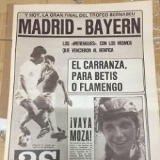 Coleccionismo deportivo: AS(31-8-1980)TROFEO BERNABEU BAYERN MUNCHEN BENFICA REAL MADRID DYNAMO KIEV KAISERLAUTERN PEREIRA. Lote 263672625
