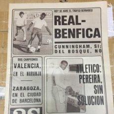 Coleccionismo deportivo: AS(29-8-1980)PEREIRA ATLETICO MADRID TROFEO BERNABEU BENFICA REAL MADRID EINTRACHT FRANKFURT NAPOLES. Lote 263673225