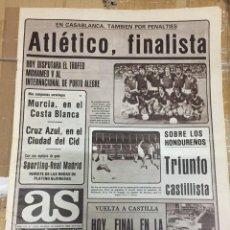 Coleccionismo deportivo: AS (24-8-1980) ATLETICO MADRID 1-1 LOKOMOTIV MOSCOW TROFEO MOHAMED V LLACER CASTILLA EMIL ZATOPEK. Lote 263674385