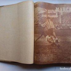 Coleccionismo deportivo: MARCA, SEMANARIO GRAFICO DE LOS DEPORTES - 1 TOMO - 27 NUMEROS, AÑO 1950. Lote 263740505
