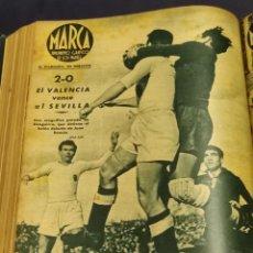 Colecionismo desportivo: 53 REVISTAS MARCA 1944 - DEL NUM 39 AL 92 , TOMO ENCUADERNADO.. Lote 263888405