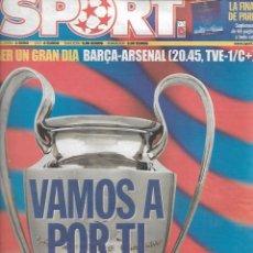 Coleccionismo deportivo: BARÇA: DIARIO SPORT PREVIA FINAL CHAMPIONS 2006. Lote 263955115