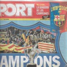 Coleccionismo deportivo: BARÇA: DIARIO SPORT, ALIRÓN LIGA 2004-05. Lote 263955370
