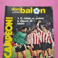 Coleccionismo deportivo: REVISTA DON BALON Nº 395 ATHLETIC CLUB BILBAO CAMPEON LIGA 82/83 - TEMPORADA FUTBOL 1982-1983. Lote 264124295