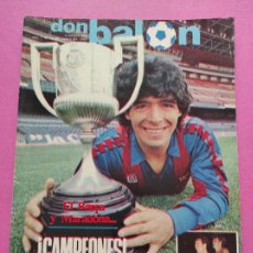 Coleccionismo deportivo: REVISTA DON BALON Nº 400 FC BARCELONA CAMPEON COPA DEL REY 82/83 BARÇA MARADONA POSTER 1982/1983. Lote 264135745