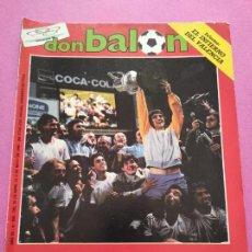 Coleccionismo deportivo: REVISTA DON BALON Nº 550 REAL ZARAGOZA CAMPEON COPA DEL REY 85/86 - STEAUA 1985-1986. Lote 264140536