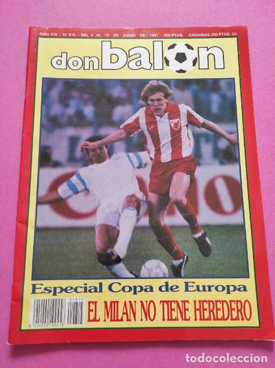 Coleccionismo deportivo: REVISTA DON BALON Nº 815 ESTRELLA ROJA CAMPEON COPA DE EUROPA 90/91 POSTER RED STAR WINNER 1990/1991 - Foto 2 - 264151984