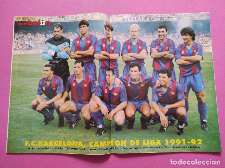 REVISTA DON BALON Nº 867 FC BARCELONA CAMPEON LIGA 91/92 POSTER BARÇA DOBLETE 1991/1992 (Coleccionismo Deportivo - Revistas y Periódicos - Don Balón)