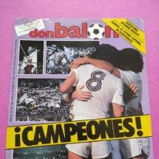 Coleccionismo deportivo: REVISTA DON BALON Nº 545 REAL MADRID CAMPEON LIGA 85/86 - FC BARCELONA RECOPA BASKET 1985/196. Lote 264171144