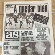Coleccionismo deportivo: AS (18-6-1980) HOY EURO EUROCOPA INGLATERRA ESPAÑA RIVALES DE LA RECOPA VALENCIA CASTILLA. Lote 264254300