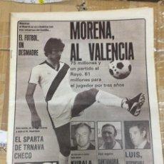 Coleccionismo deportivo: AS (7-6-1980) JULIO ALBERTO MORENA RAYO VALENCIA ATLETICO MADRILEÑO HOMENAJE A ZAZO OSASUNA ESPAÑA. Lote 264255932