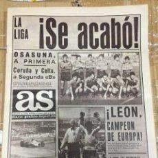 Coleccionismo deportivo: AS (2-6-1980)ASCENSO OSASUNA LEON BOXEO CAMPEON ATLETICO MADRILEÑO GUECHO VALLDOLID DEPORTIVO CORUÑA. Lote 264256372