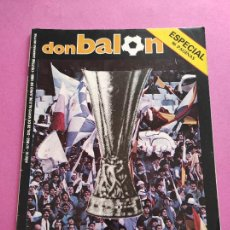 Collectionnisme sportif: DON BALON 502 - ESPECIAL REAL MADRID CAMPEON COPA UEFA 1984/1985 - POSTER EUROMADRID 84/85 - EXTRA. Lote 264290572