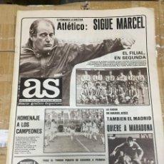 Coleccionismo deportivo: AS (26-5-1980) MARCEL DOMINGO REAL MADRID MARADONA ATLETICO MADRID MURCIA JOSE VICTOR. Lote 264295240