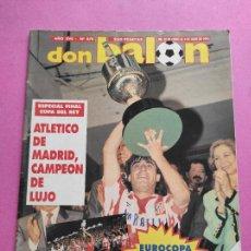 Coleccionismo deportivo: REVISTA DON BALON Nº 870 ATLETICO DE MADRID CAMPEON COPA DEL REY 1991/1992 POSTER ATLETI 91/92 FUTRE. Lote 264297924