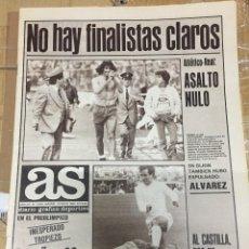 Coleccionismo deportivo: AS (16-5-1980) ATLETICO MADRID REAL MADRID LIGA BELGICA LOTUS FORMULA 1. Lote 264298740
