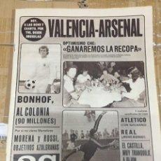 Coleccionismo deportivo: AS (14-5-1980) HOY FINAL RECOPA VALENCIA ARSENAL KUBALA. Lote 264299024