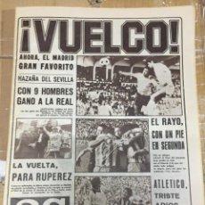 Coleccionismo deportivo: AS (12-5-1980) REAL MADRID LIGA ATLETICO MADRID RAYO DESCENSO FINAL RECOPA VALENCIA ARSENAL. Lote 264299120