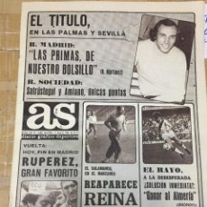 Coleccionismo deportivo: AS (11-5-1980) RUPEREZ CICLISMO ALAVES REAL MADRID SPORTING GIJON SANTILLANA QUINI. Lote 264299192