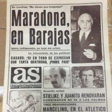 Coleccionismo deportivo: AS (9-5-1980) MARADONA EN BARAJAS MARCELINO ATLETICO MADRID REAL MADRID CASTILLA. Lote 264299520