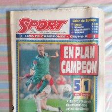 Colecionismo desportivo: SPORT 5155 15 DE MARZO DE 1994 BARCELONA BARCA - SPARTAK 5-1. Lote 264518374