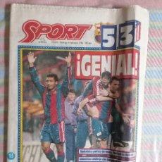 Coleccionismo deportivo: SPORT 5151 13 DE MARZO DE 1994 BARCELONA BARCA - ATLÉTICO 5-3. Lote 264520529