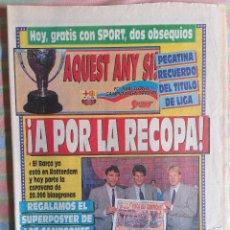 Coleccionismo deportivo: SPORT 4129 14 DE MAYO1991 A POR LA RECOPA. Lote 265121344