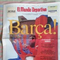 Collezionismo sportivo: MUNDO DEPORTIVO SUPLEMENTO CRUYFF 1ª LIGA 1990-91 CAMPEÓN BARCELONA BARCA. Lote 265201329