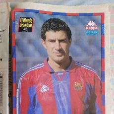 Coleccionismo deportivo: MUNDO DEPORTIVO FICHA LÁMINA PÁGINA FIGO KAPPA BARCELONA LIGA 96-97. Lote 265202979