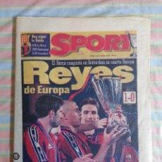 Coleccionismo deportivo: SPORT 6300 15 DE MAYO 1997 REYES DE EUROPA 4ª RECOPA BARCELONA BARCA - PSG 1-0. Lote 265203914