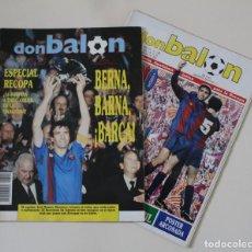 Coleccionismo deportivo: LOTE REVISTA DON BALÓN. Nº 708 Y 709. FC BARCELONA CAMPEÓN DE LA RECOPA DE EUROPA (1989).. Lote 229370100
