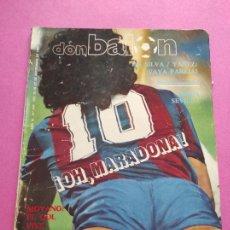 Coleccionismo deportivo: REVISTA DON BALON Nº 415 1983 MARADONA BARÇA 83/84 - REAL MURCIA - DA SILVA YAÑEZ - ATHLETIC CLUB. Lote 265706839