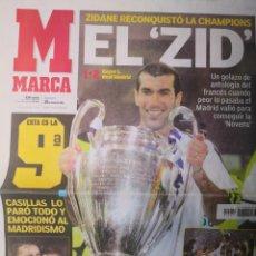 Coleccionismo deportivo: DIARIO MARCA - REAL MADRID CAMPEÓN NOVENA COPA DE EUROPA. 16 MAYO 2002. ZIDANE.. Lote 265717539