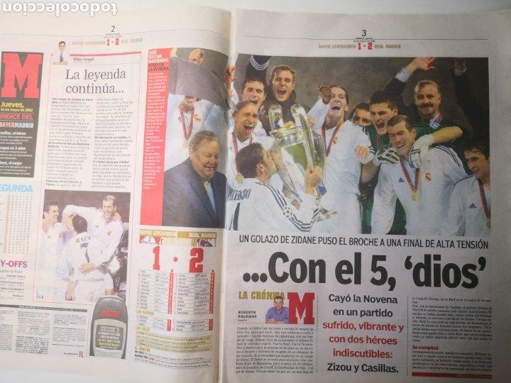 Coleccionismo deportivo: DIARIO MARCA - REAL MADRID CAMPEÓN NOVENA COPA DE EUROPA. 16 MAYO 2002. ZIDANE. - Foto 3 - 265717539