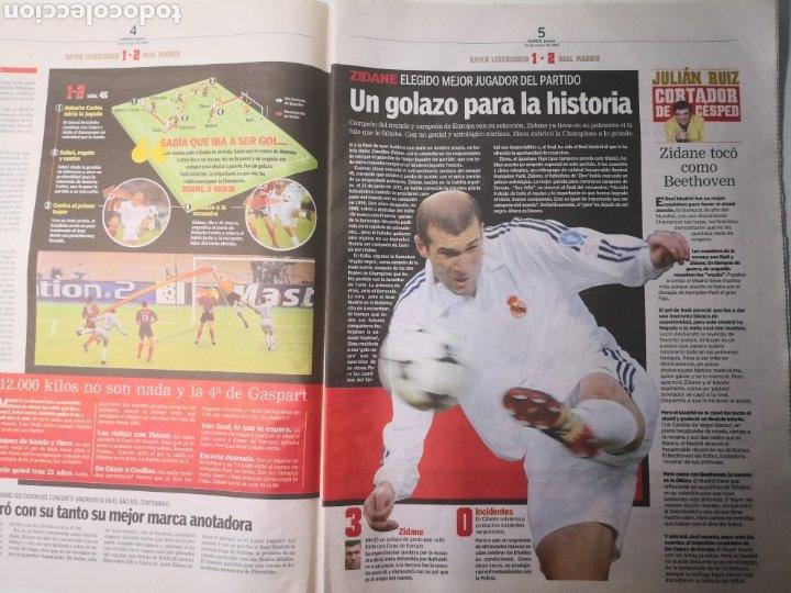 Coleccionismo deportivo: DIARIO MARCA - REAL MADRID CAMPEÓN NOVENA COPA DE EUROPA. 16 MAYO 2002. ZIDANE. - Foto 4 - 265717539
