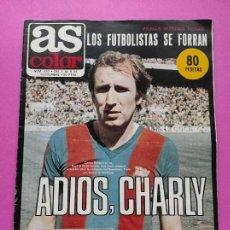 Colecionismo desportivo: REVISTA AS COLOR Nº 537 1981 CHARLY REXACH BARÇA - INDEPENDIENTE AVELLANEDA HONDURAS VILLA MADRID 81. Lote 265758429