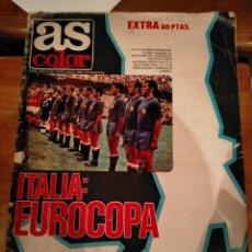 Colecionismo desportivo: REVISTA AS COLOR EXTRA ITALIA EUROCOPA JULIO 1980 POSTER SELECCIÓN ESPAÑOLA AÑO 1964. Lote 265792854