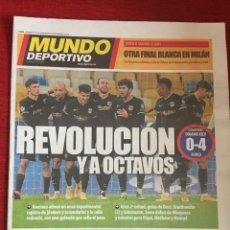 Coleccionismo deportivo: MUNDO DEPORTIVO (25-11-2020) DINAMO KIEV 0-4 BARCELONA INTER MILAN REAL MADRID ATLETICO LOKOMOTIV. Lote 265841319
