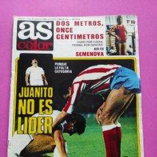 Colecionismo desportivo: REVISTA AS COLOR Nº 541 1981 ISIDRO - JUANITO REAL MADRID - SEMENOVA - MACEDA - VALENCIA CF. Lote 265894638