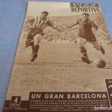 Coleccionismo deportivo: VIDA DEPORTIVA Nº: 345(21-4-52)BARÇA 3 AT.MADRID 1-POSTER BARÇA CAMPEÓN LIGA 1951-52. Lote 265947983