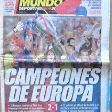 Coleccionismo deportivo: PERIODICO MUNDO DEPORTIVO FC BARCELONA CAMPEON CHAMPIONS LEAGUE VS ARSENAL FC 18-5-06 REV273. Lote 265961438