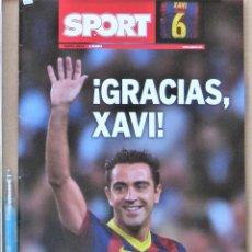 Coleccionismo deportivo: REVISTA ESPECIAL SPORT FC BARCELONA GRACIAS XAVI DE MAYO 2015 SU HISTORIA BIOGRAFIA + POSTER REV451. Lote 265965618