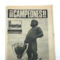 Collezionismo sportivo: FC BARCELONA CAMPEÓN LIGA 73-74 MUNDO DEPORTIVO CAMPEONES! 8 ABRIL 1974 CRUYFF SPORTING GIJÓN. Lote 265987348