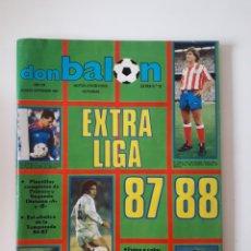 Coleccionismo deportivo: REVISTA DON BALÓN EXTRA LIGA 87 88. N° 12. AGOSTO/SEPTIEMBRE 1987. 192 PÁGINAS. VER FOTOS.. Lote 266185408